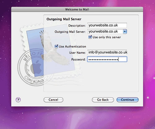 Setting up your apple e-mail account step 8