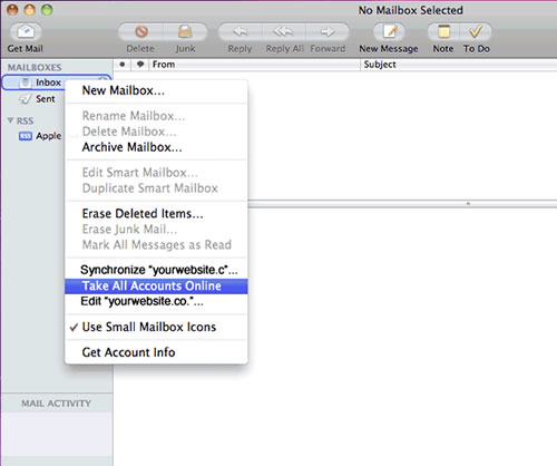 Setting up your apple e-mail account step 11