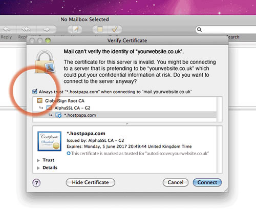Setting up your apple e-mail account step 14
